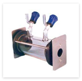 GAS CELL - ( WITH TUBULAR ENDING WITH VALVE) : NaCl / KBr